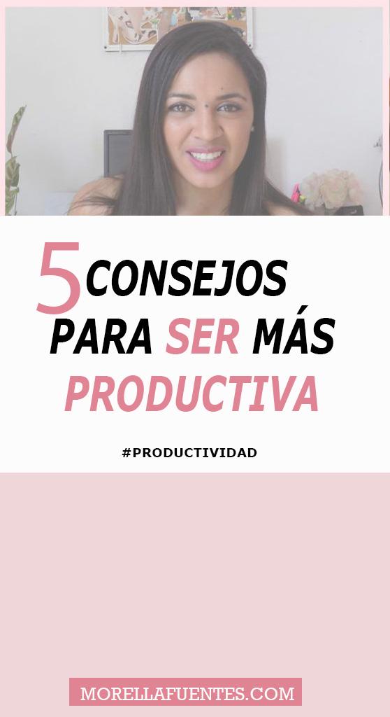 ser más productiva